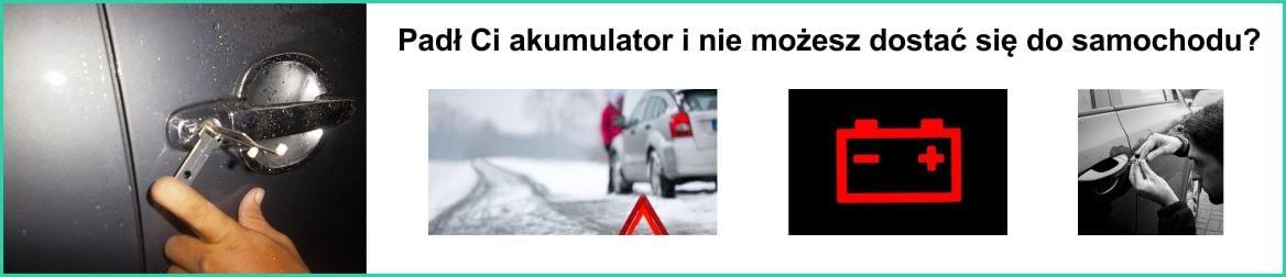 Jak otworzyć samochód bez akumulatora?